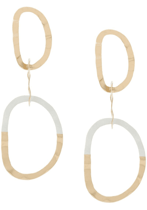 Isabel Marant triple hoop drop earrings - Gold