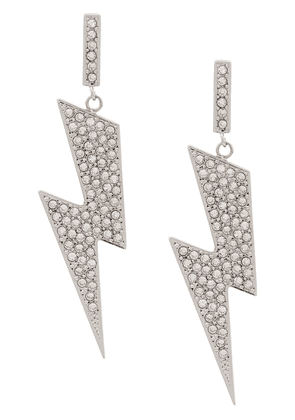 Isabel Marant Flash rhinestone embellished earrings - Silver