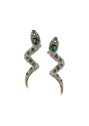 Gucci Snake earrings with crystals - Gold