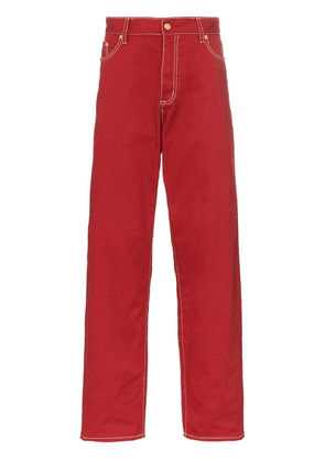Eytys Benz wide-leg cotton twill jeans - Red