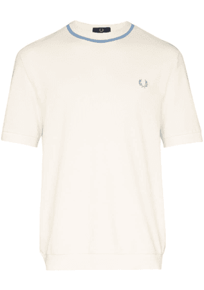 Fred Perry short sleeve knitted shirt - Neutrals