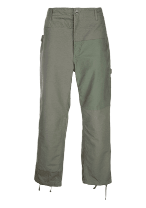 Engineered Garments patchwork trousers - Green