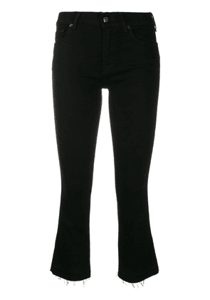 7 For All Mankind cropped flared jeans - Black