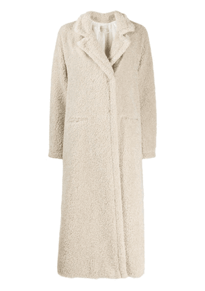 Forte Forte textured double-breasted coat - Neutrals