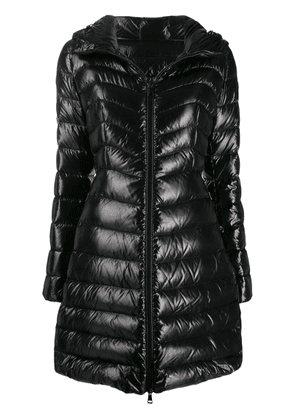 Moncler hooded midi puffer jacket - Black
