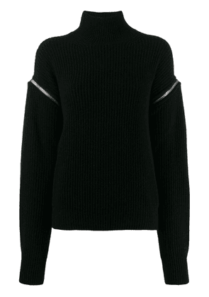 MSGM turtleneck knitted sweater - Black