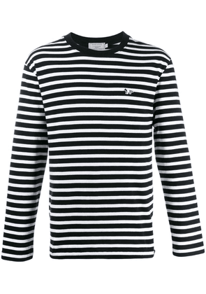 Maison Kitsuné striped long sleeve top - Black