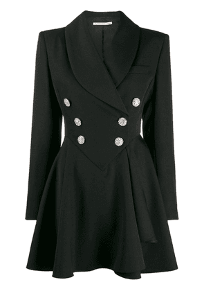 Alessandra Rich button fronted coat dress - Black
