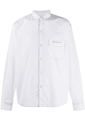 Jacquemus embroidered logo shirt - White