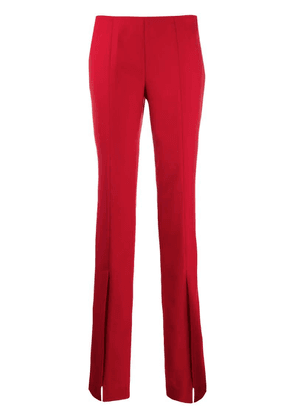Blumarine front slit flared trousers