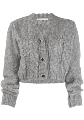 Alessandra Rich cable knit cardigan - Grey