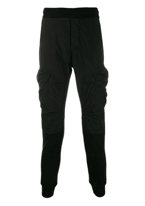 CP Company panelled slim fit track pants - Black