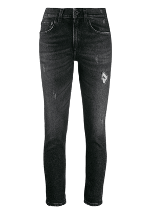 Dondup distressed cropped skinny jeans - Black