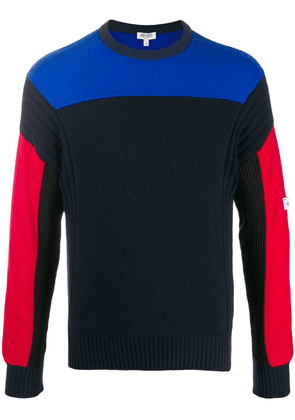 Kenzo colour block knitted sweater - Blue
