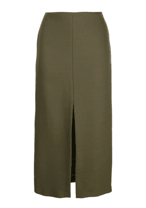 Adam Lippes pencil skirt with front slit - Green