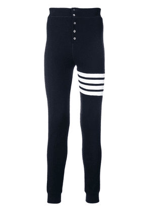 Thom Browne 4-bar Compact Waffle Long Johns - Blue