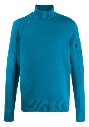 CP Company roll neck sweater - Blue