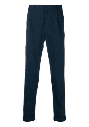 PS Paul Smith plaid tailored trousers - Blue