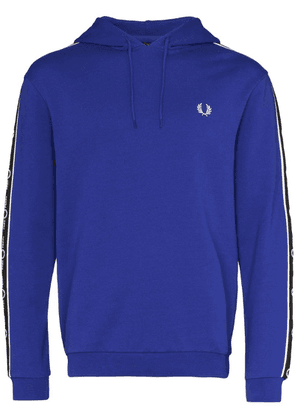 Fred Perry logo tape hoodie - Blue