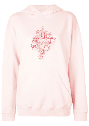 Givenchy graphic print hooded sweatshirt - Pink