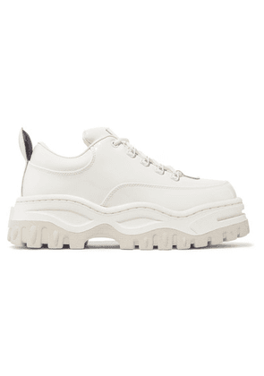 Eytys - Angel Glossed-leather Platform Sneakers - White