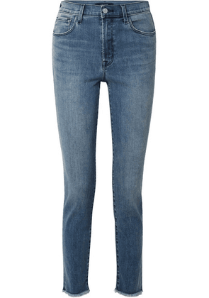 J Brand - Ruby 30 High-rise Slim-leg Jeans - Mid denim