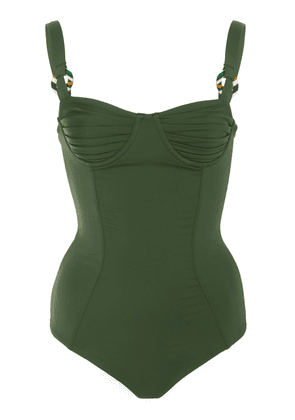 Palm Grace Ruched Swimsuit