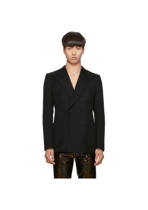 Givenchy Black Wool Pearly Buttons Blazer