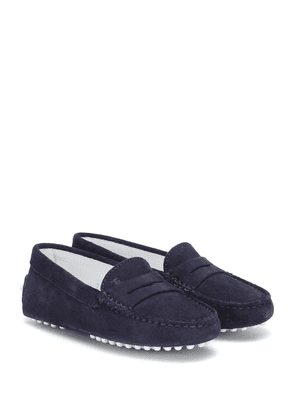 Junior Gommino suede loafers