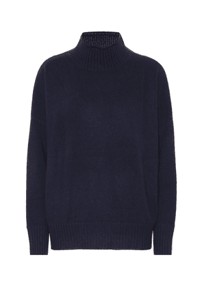 Wool and cashmere mockneck sweater