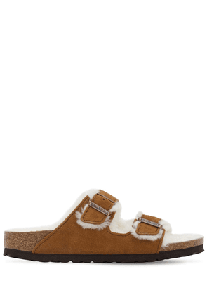 Arizona Suede & Shearling Sandals