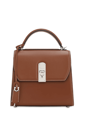 Md Boxyz Smooth Leather Top Handle Bag