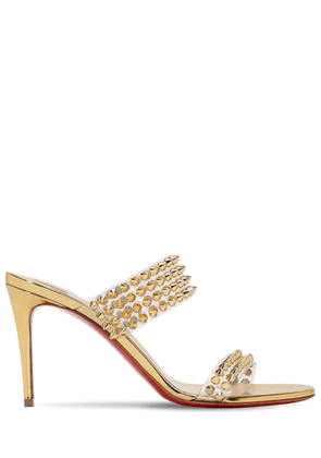 85mm Spikes Only Plexi & Leather Sandals