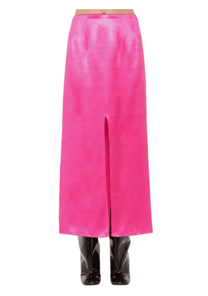 High Waist Satin Midi Skirt