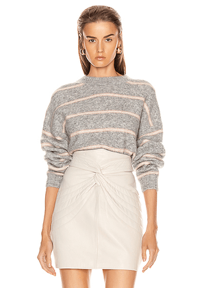 Acne Studios Khira Mohair Sweater in Grey & Beige - Gray,Pink,Stripes. Size L (also in M,S,XS).