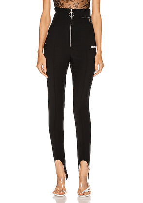 OFF-WHITE High Waisted Fitted Pant in Black - Black,Stripes. Size 36 (also in 38,40,42,44).