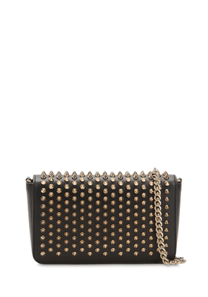 Zoom Pouch Spiked Leather Bag