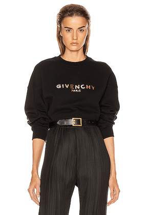Givenchy Cropped Oversized Sweatshirt in Black - Black. Size L (also in M,S,XS).