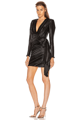 Givenchy Pleated Bow Wrap Dress in Black - Black. Size 34 (also in 38).