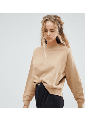 Weekday huge cropped sweatshirt in stone