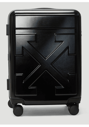 Off-White Arrow Trolley Carry-On Suitcase in Black size One Size
