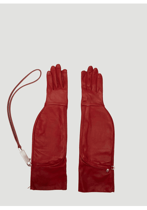 Rick Owens Off-the-Runway Gloves in Red size 7