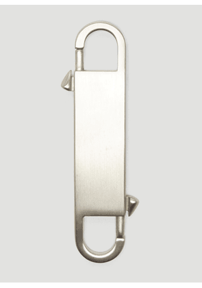 Rick Owens Twin Keyring in Silver size One Size