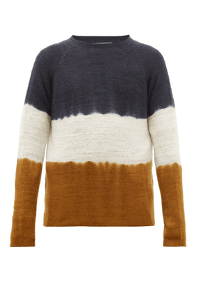Denis Colomb - Hand Dyed Cashmere Sweater - Mens - Yellow Multi