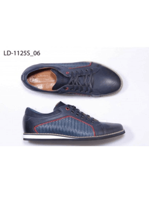 Lacuzzo Blue Leather Sneaker