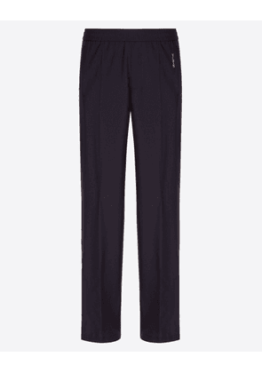 Valentino Uomo Vltn Trousers With Drawstring Man Navy Wool 84%, Mohair Wool 16% 46