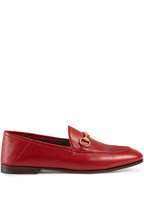 Gucci horsebit detail loafers - Red