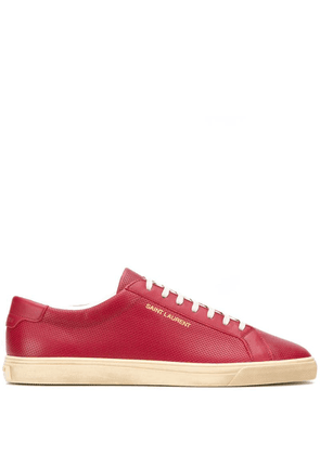 Saint Laurent Andy perforated low-top sneakers - Red