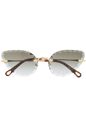 Chloé Eyewear cat-eye frame sunglasses - Gold
