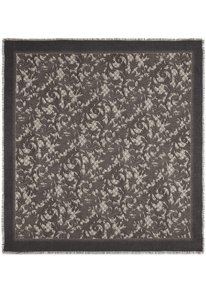 Gucci Arabesque print modal silk shawl - Brown